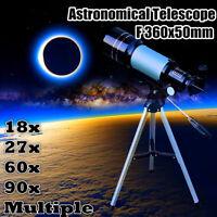 F360x50 Astronomical Telescope Monocular Space Optical Glass Aluminum + Tripod