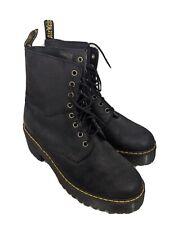 Doc martens boots womens 9 black Shriver hi