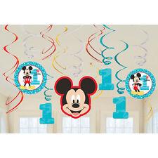 DISNEY Mickey Mouse 1st Prima Festa di Compleanno Decorazioni Swirl