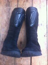ECCO BOOT BLACK SUEDE & LEATHER STAR TREK STYLE  sz: 38  5 (no size marked)