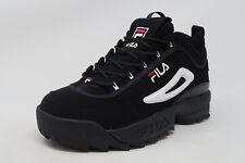 FILA Disruptor II Black Nubuck Lace Up Sneakers Adult Men Shoes