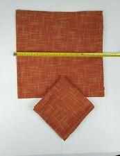Kevin Textile Faux Linen Square 2 Tone Woven Throw Pillow Covers 16 X 16 Orange