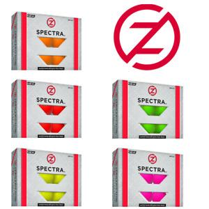 Zero Friction Spectra Matte Neon Coloured GOLF BALLS  One Dozen FREE P&P NEW!