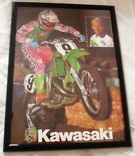 Vintage Kawasaki Johnny O'Mara Motocross Poster Original 1990