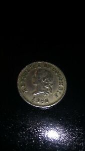 Republic of Colombia 1886 year 5 CENTAVOS nickel.Rare.