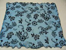bleu imprimé floral - PUR - léger 76.2cm Foulard carré