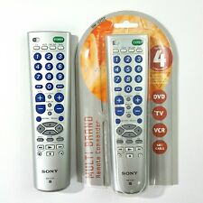 Lot of 2 Sony Universal Remote Controllers RM-V202 DVD TV VCR Sat/Cable