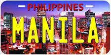 Manila Philippines Aluminum Novelty Car Tag License Plate P01