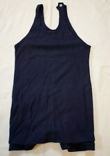 Vintage 1920s Wool Bathing suit Navy ~Men's~Victorian Era Beach One Piece