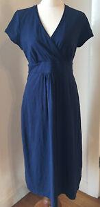Boden Jersey Navy Cotton Dress Sz 12 L