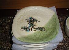 Ceramic Tea Cup Set / Chinese Style Palm Tree Design / Unique / Modern