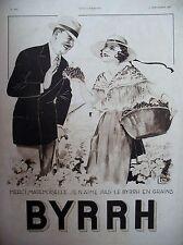 PUBLICITE DE PRESSE BYRRH VENDANGES RAISIN DESSIN LEONNEC  FRENCH AD 1932