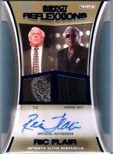 TNA Ric Flair 2012 Reflexxions Autograph Dual BLUE Suit & Tie Relic Card SN 4/25