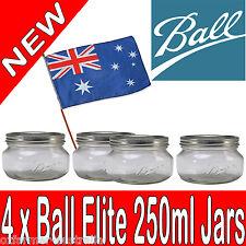 4 x 250ml Ball Mason Elite Half Pints Salsa Honey Jam Spices Herbs  Spread Jars