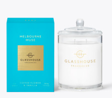NEW Glasshouse Melbourne Muse 380g Soy Candle Triple Scented Natural Handmade