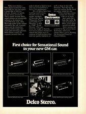 1975 AC Delco Electronics Car Stereo Auto Parts GM General Motors Cars Print Ad