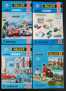 FALLER AMS Post 1+2+3 Rennen, Technik, Verkehr + A-M-S Katalog 1968 -882 883 888