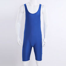 Mens Tight Bodysuit Wrestling Singlet Leotard Vest Top Boxer Brief Gym Swim Suit