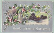 """Hearty Wishes For Christmas"" 1909 Post Card"