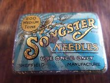 Rare Old Vintage - Songster - Gramophone medium Tone Needles Tin