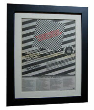 FASTWAY+Easy Livin+POSTER+AD+RARE+ORIGINAL 1983+QUALITY FRAMED+FAST GLOBAL SHIP