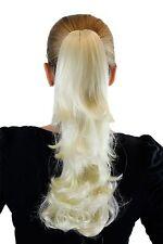 Postiche Blond platine env. 40cm courbure Affiler Pince Papillon XF-0098R-613