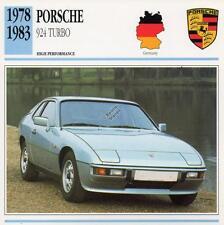 1978-1983 PORSCHE 924 TURBO Classic Car Photo/Info Maxi Card