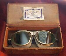 Rare 1930s American Optical Company Pilot Goggles in Case