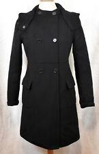 MAX MARA Black Double Face Wool Hand-Sewn Coat 6 Removable Hood