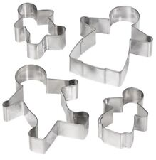 Tala Gingerbread Family Man Cookie Cutter Pastry Icing Stainless Steel Biscuit