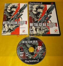 METAL GEAR SOLID 2  SONS OF LIBERTY Ps2 Versione NTSC Americana 1ª Ed ○ COMPLETO