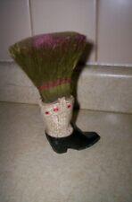 Vintage Cowboy Boot Clothes Brush Whisk Broom Novelty NICE!! 6''
