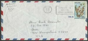 Belize 1981-2 50c Black Orchid Scott #596 used on cover