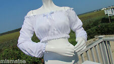 NEW S M gypsy crop top white costume halloween fortune teller belly dancer cute