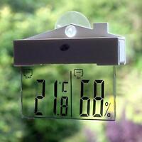 LCD Digital Thermometer Hygrometer Meter Indoor/Outdoor Temperature Humidity GA