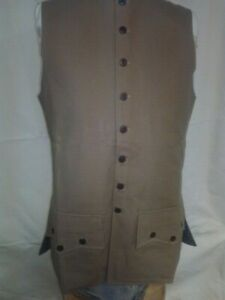 18th Century/Rev War Men's Reenactor Waistcoat, size   Large