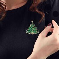 Xmas Elegant Vintage Jewelry Tree Coat Cap Brooch Christmas Rhinestone Pin