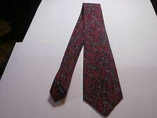 Boston Museum of fine arts silk Mens Neck Tie maroon deco vine print very nice