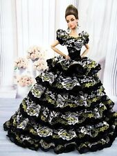 Eaki Black Lace Evening Dress Outfit Gown Silkstone Barbie Fashion Royalty FR2