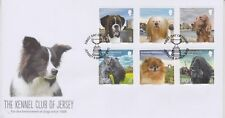 Unaddressed Jersey First Day Cover FDC 2013 Kennel Club of Jersey Dogs Set