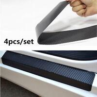 4D Carbon Fiber Car Accessories Door Sill Scuff Protector Stickers 4Pcs I9Z