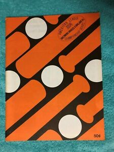 1974 ALCS PROGRAM OAKLAND @ BALTIMORE  NRMT UNSCORED