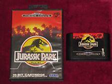 Sega Mega Drive-Jurassic Park! juego de película 1990S Completo en Caja De Dinosaurios!