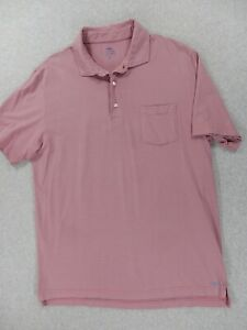 Peter Millar MountainSide Collection Striped Polo Shirt (Mens Medium) Pink/Gray