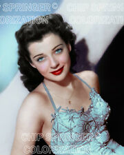 GAIL RUSSELL SMILING IN A STAR DRESS (#3) BEAUTIFUL COLOR PHOTO BY CHIP SPRINGER