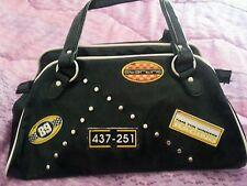 Borsa vintage bauletto nera lucida