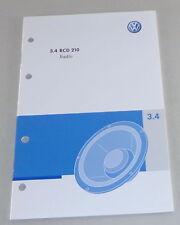 Instrucciones Servicio VW Radio Rcd 210 Integrado en Polo Golf Passat Uvw. Von