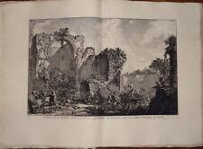 Piranesi stampa antica old print kupferstich 1756 sepolcro liberti roma appia