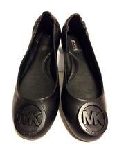 MICHAEL Michael Kors Ballet Womens Black Leather Flats SZ 6 Shoes Loafer NEW