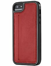 Skech Kameo Leather Wallet Case for iPhone Apple 5/5S/SE- RED